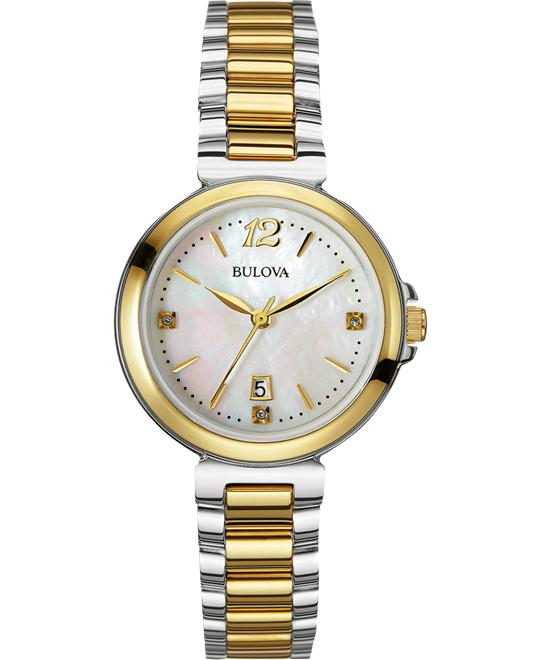 Bulova Women's Diamond Gallery Watch,30mm