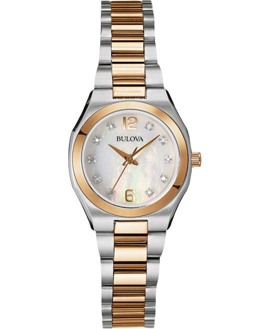 Bulova Ladies Diamond Gallery Watch, 26mm