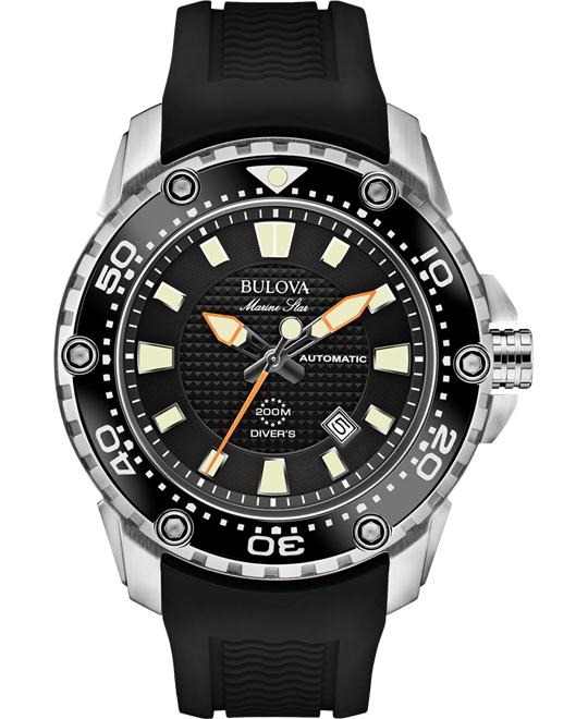 Bulova Men's Analog Automatic Black Watch, 47mm
