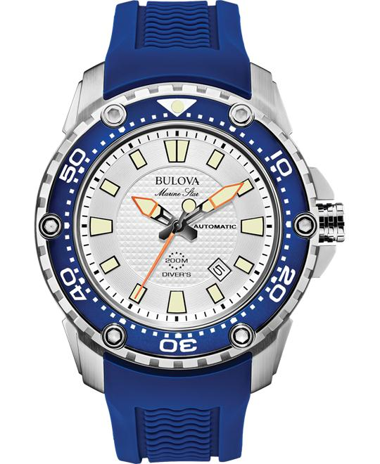 Bulova Men's Analog Automatic Blue Watch, 47mm