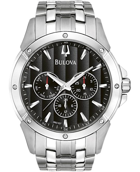 Bulova Men's Black Dial Bracelet Watch 41mm