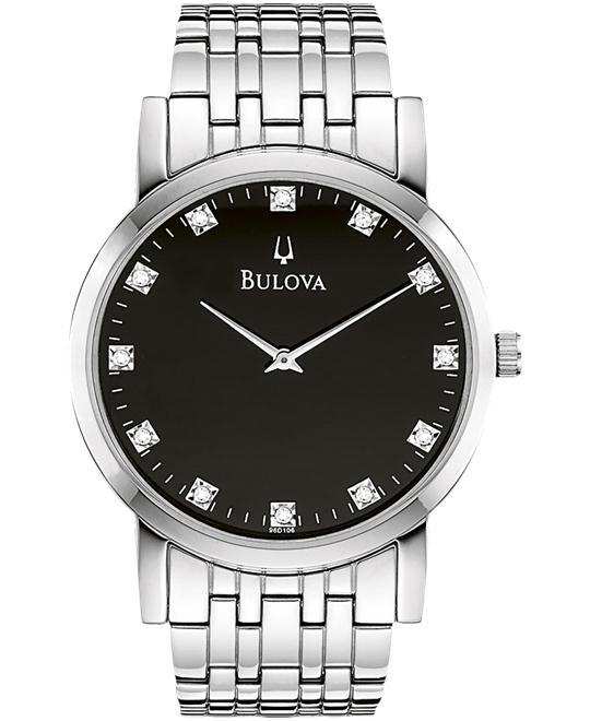 Bulova Men's Diamond Black Watch 38mm
