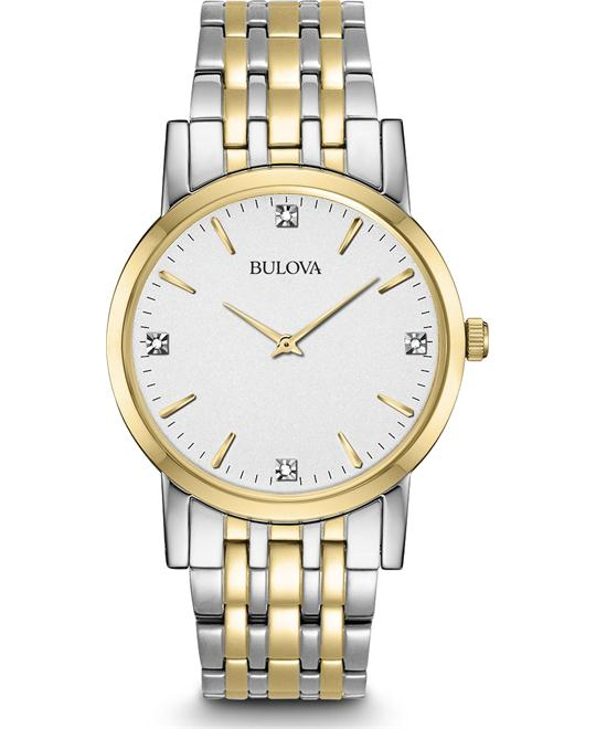 Bulova Men's Diamond Dial Dress Watch, 38mm