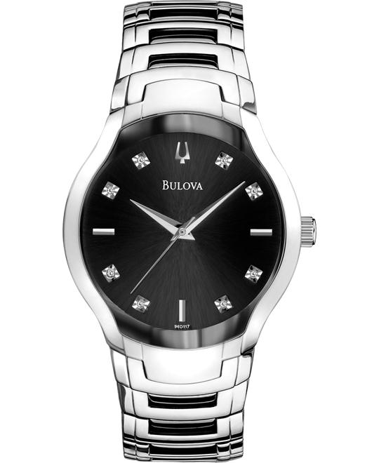 Bulova Men's Diamond Dial Watch  39mm