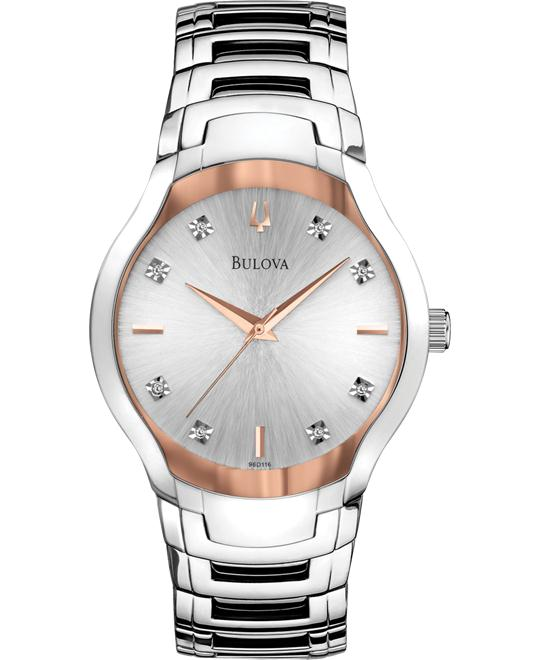 Bulova Men's Diamond Dial Watch, 39mm