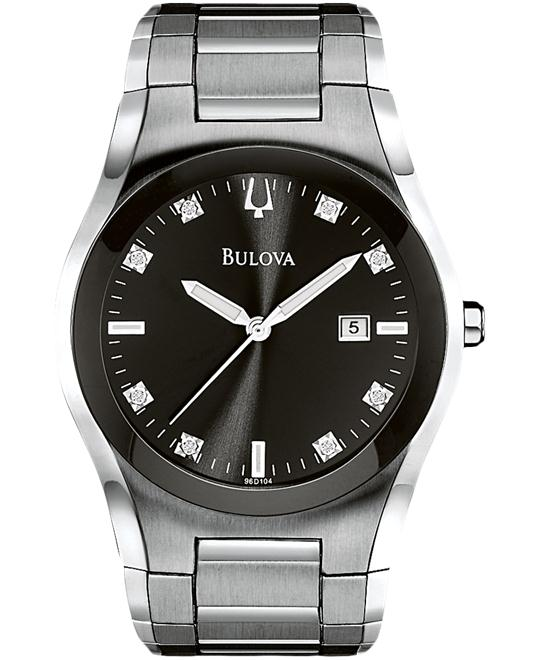 Bulova Men's  Diamonds Bracelet Watch 40mm