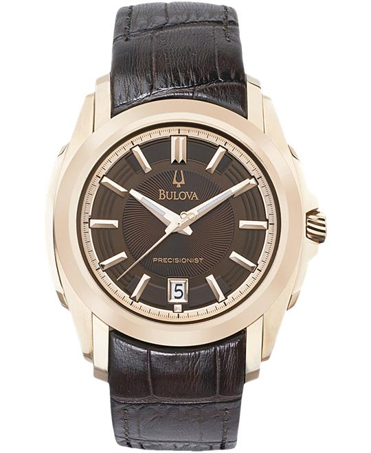 Bulova Men's Precisionist -Brown Leather Watch, 39mm