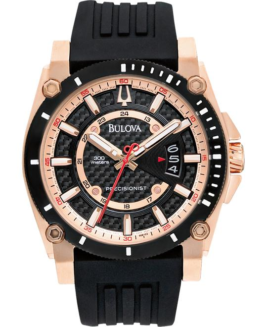 Bulova Men's Precisionist Rubber Strap Watch, 46mm
