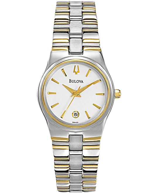 Bulova Two-tone Stainless Ladies Watch 26mm