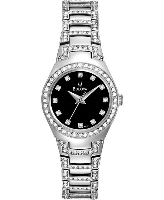 Bulova Women's Crystal Bracelet Watch, 25mm