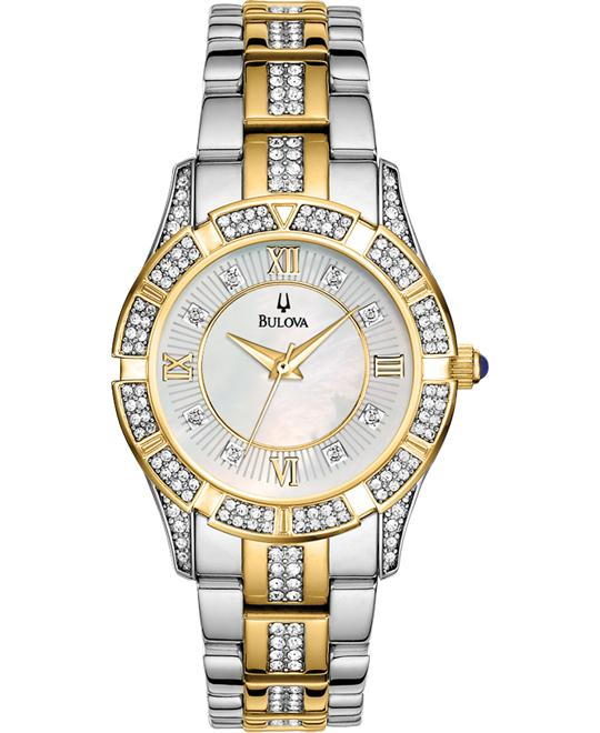 Bulova Women's Crystal Bracelet Watch, 31mm