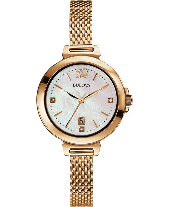 Bulova Women's Diamond Display Japanese Watch 30mm