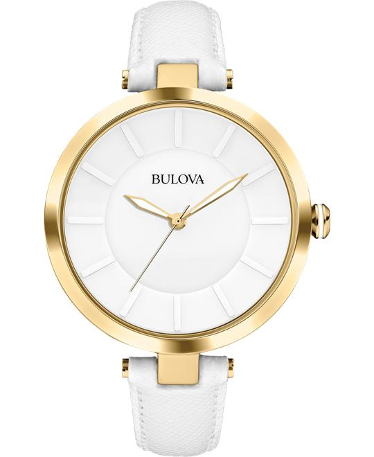 Bulova Women's Watch with Leather Band, 38mm