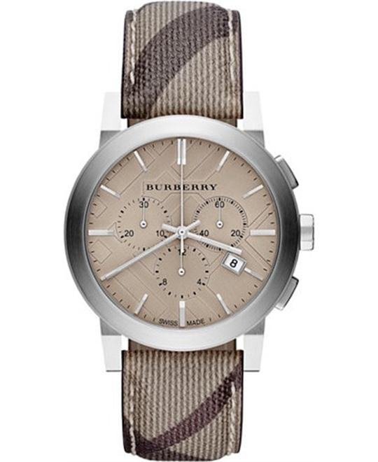 Burberry Brown  Fabric Strap Men's Watch 42MM