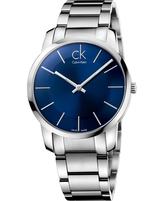 Calvin Klein City Mens Wristwatch Very flat 43mm
