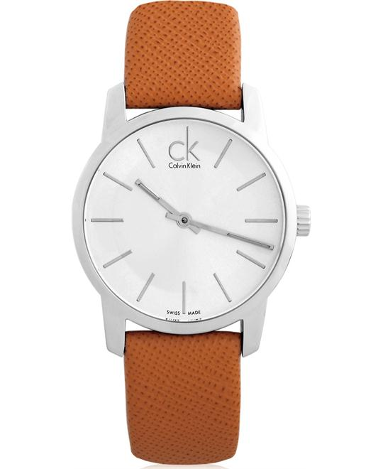 Calvin Klein ck City Leather Ladies Watch 31mm