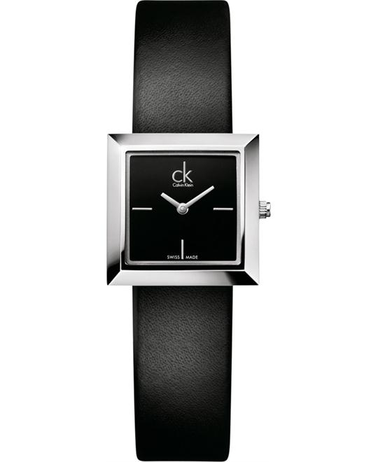Calvin Klein ck Mark Leather Ladies Watch 25mm