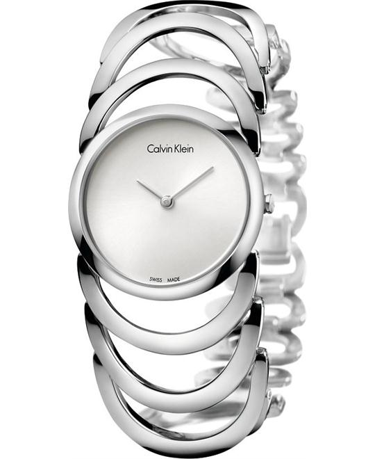 Calvin Klein Ladies Body Silver Watch 30mm