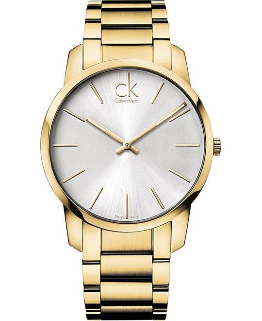 Calvin Klein Men's Gold Stainless City Watch 42mm
