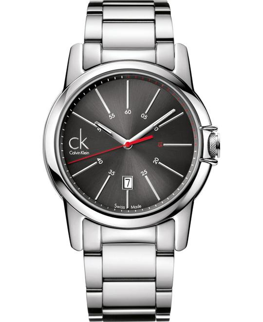 Calvin Klein Quartz Swiss Date Black Men's Watch 40mm