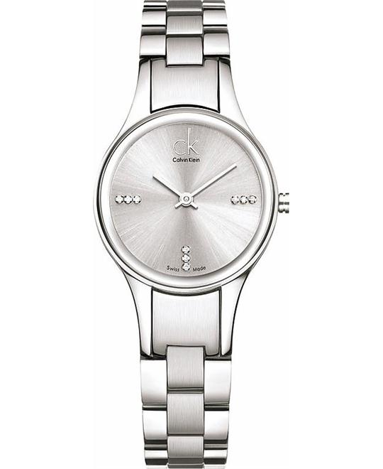 Calvin Klein Swiss Crystal Silver Ladies Watch 28mm