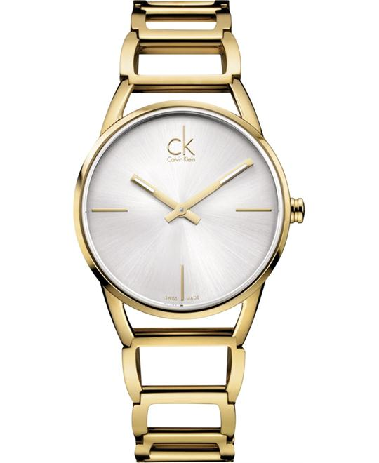 Calvin Klein Women's Stately Ladies Watch Gold 34mm