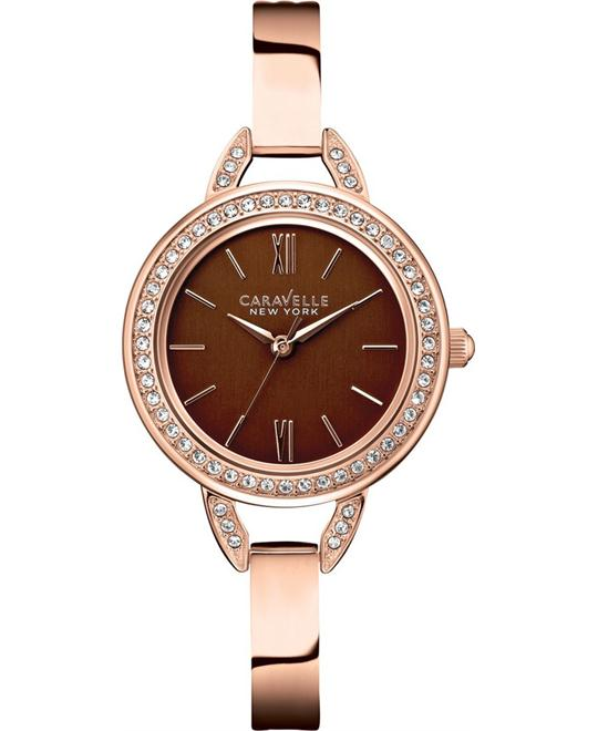 Caravelle New York Women's Crystal-Accented Watch, 28mm