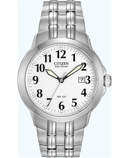 "Citizen Men's ""Classic"" Stainless Eco-Drive Watch, 40mm"