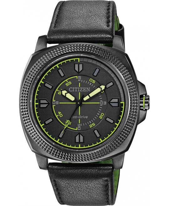 Citizen Men's  CTO Analog Japanese Quartz Black, 48mm