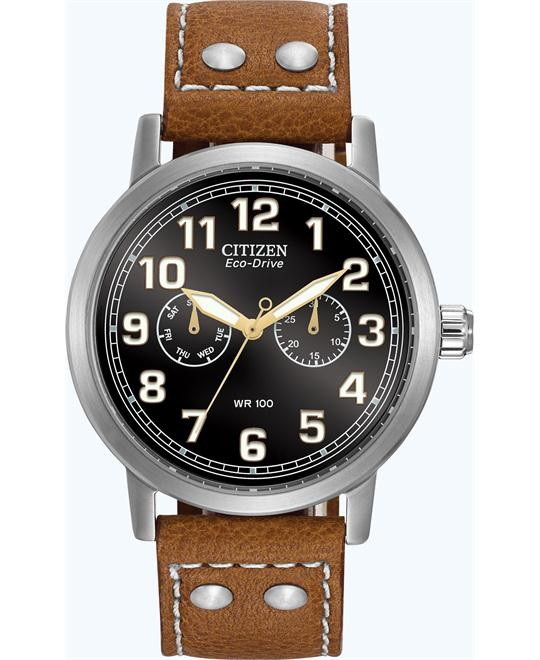 "Citizen Men's Eco-Drive ""Avion"" Brown Watch, 43mm"