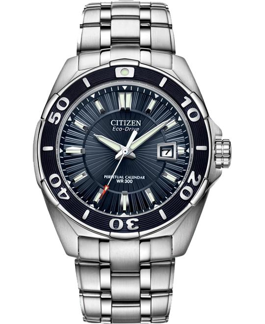 Citizen Men's Eco-Drive Blue Analog Watch, 43mm