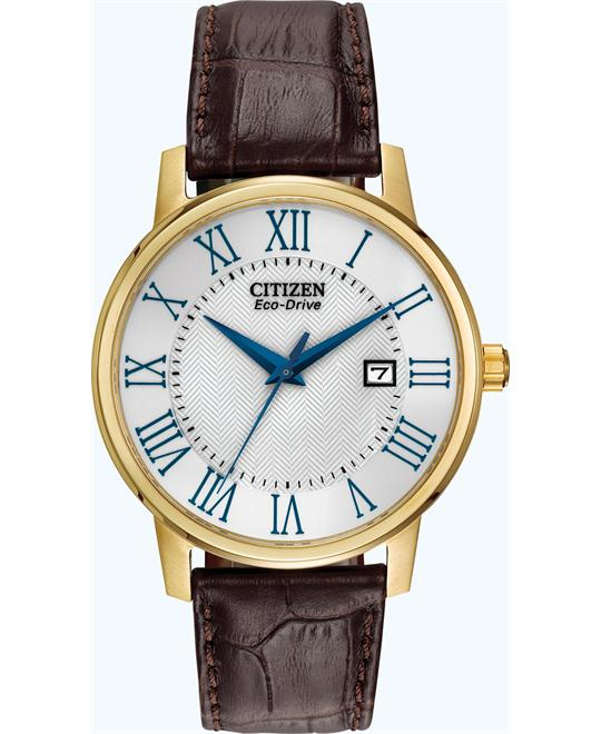 "Citizen Men's ""Eco-Drive"" Gold-Tone Stainless Watch, 40mm"