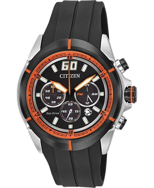 Citizen Men's Eco-Drive HTM Chronograph Polyurethane, 44mm