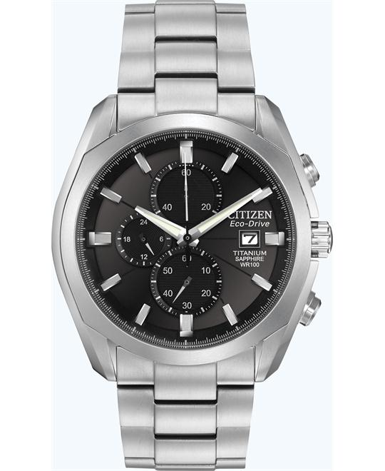 "Citizen Men's ""Eco-Drive"" Titanium Watch, 43mm"