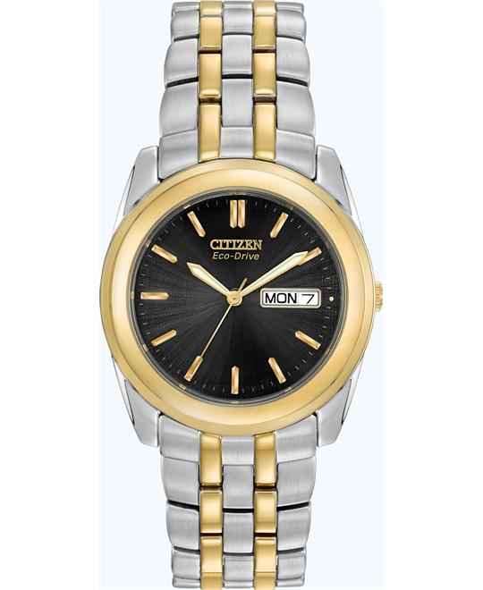Citizen Men's Eco-Drive Two-Tone Stainless Watch, 35mm