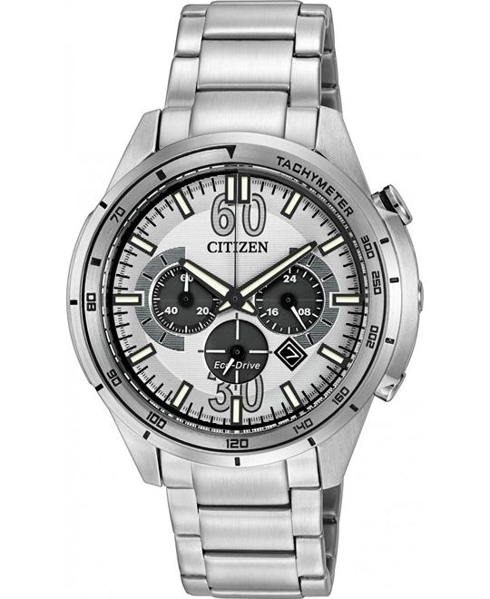 Citizen Men's HTM Analog Japanese Quartz Silver, 46mm