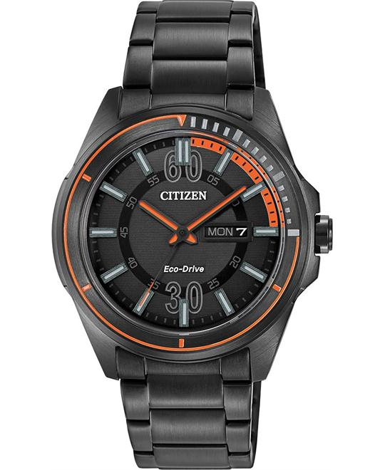 Citizen Men's  HTM Japanese Quartz Black, 43mm