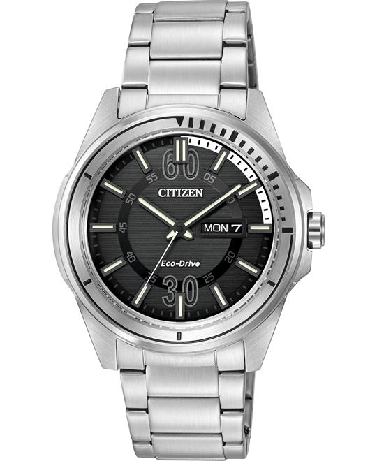 Citizen Men's HTM Japanese Quartz Silver, 43mm