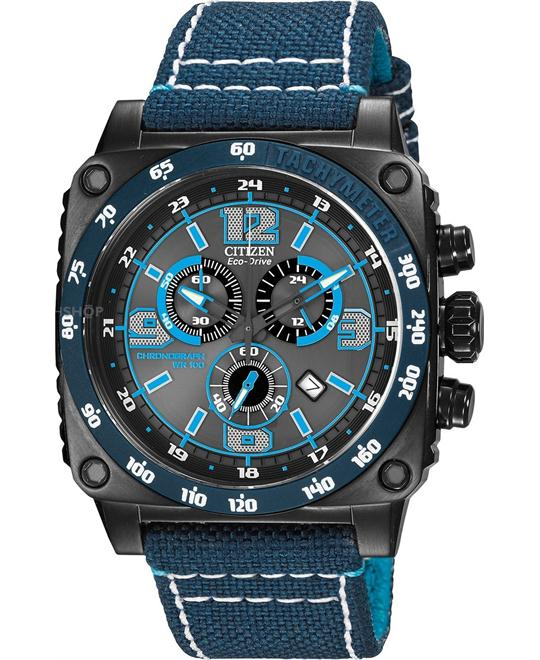 Citizen Men's MFD Japanese Quartz Blue, 45mm