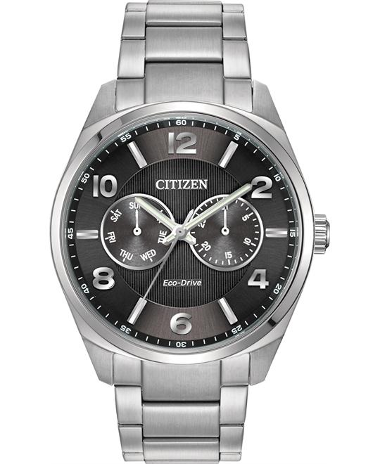 CITIZEN Eco-Drive Black Dial Men's Watch 42mm