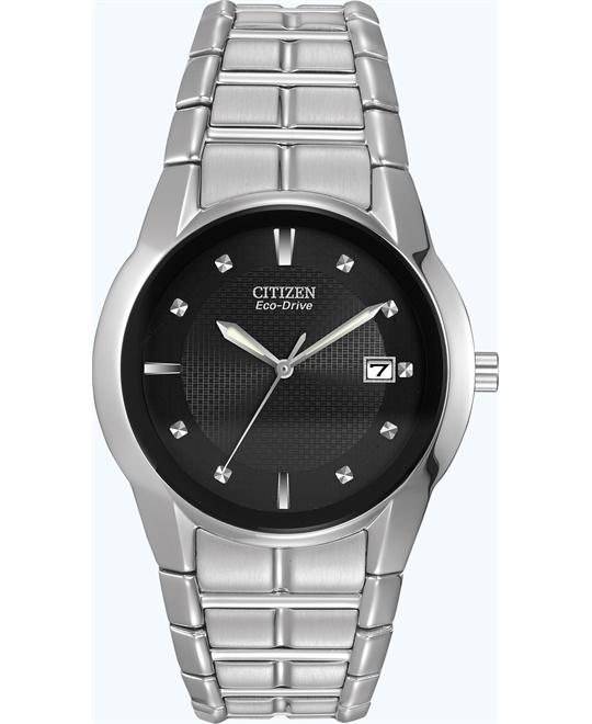 CITIZEN Men's Eco-drive Stainless Steel Watch 37mm