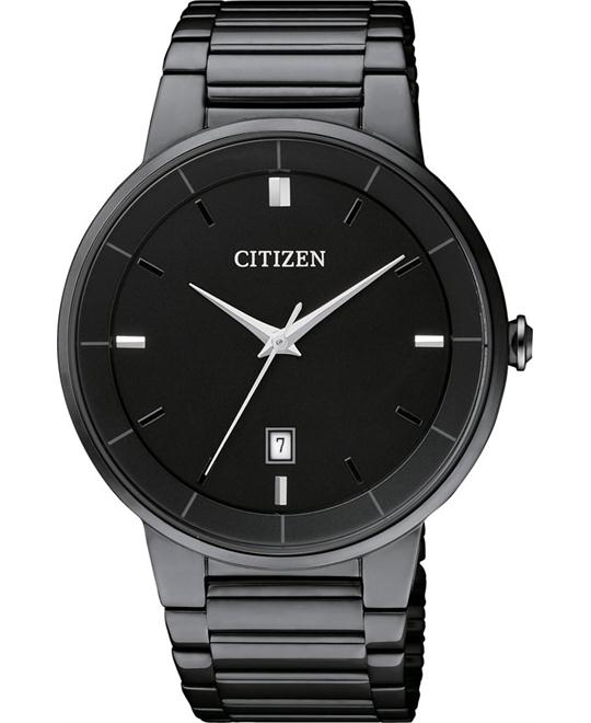 Citizen Quartz Black Ion-Plated Men's Watch 40mm
