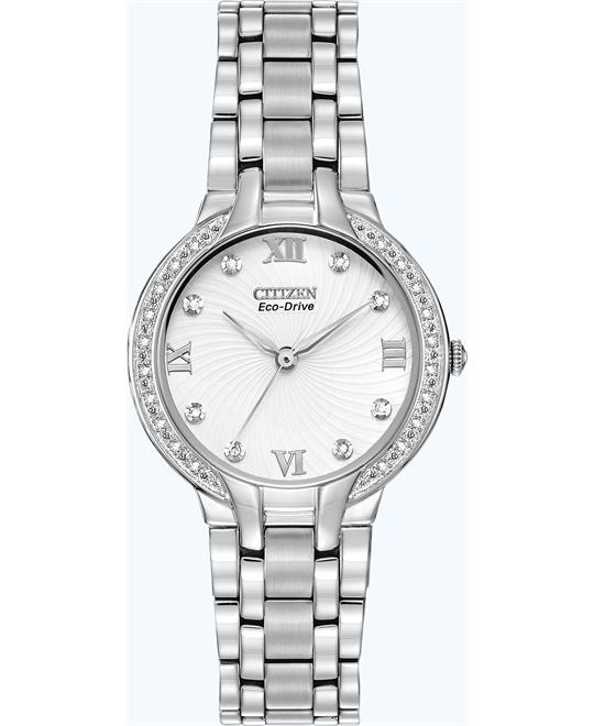 "Citizen Women's  ""Bella"" Diamond Eco-Drive Watch, 29mm"