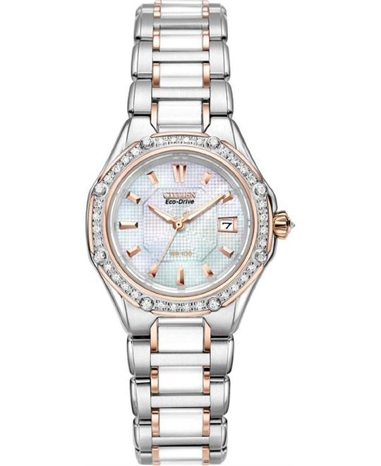 đồng hồ Citizen Octavia Ceramic Diamond Watch 28mm