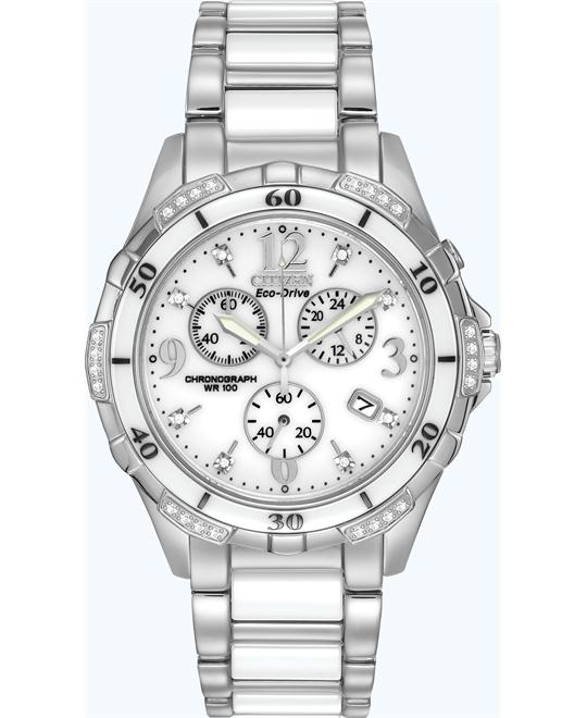 Citizen Ceramic Diamond-Accented Eco-Drive Watch 40mm