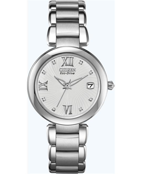 Citizen Women's Eco-Drive Diamond Watch, 33mm