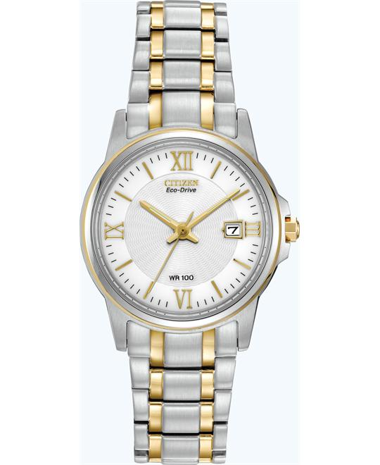 Citizen Women's Eco-Drive Two-Tone Watch, 28mm