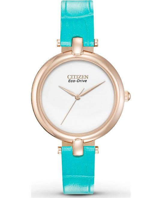 "Citizen Women's ""Silhouette"" Rose Gold-Tone Watch, 34mm"