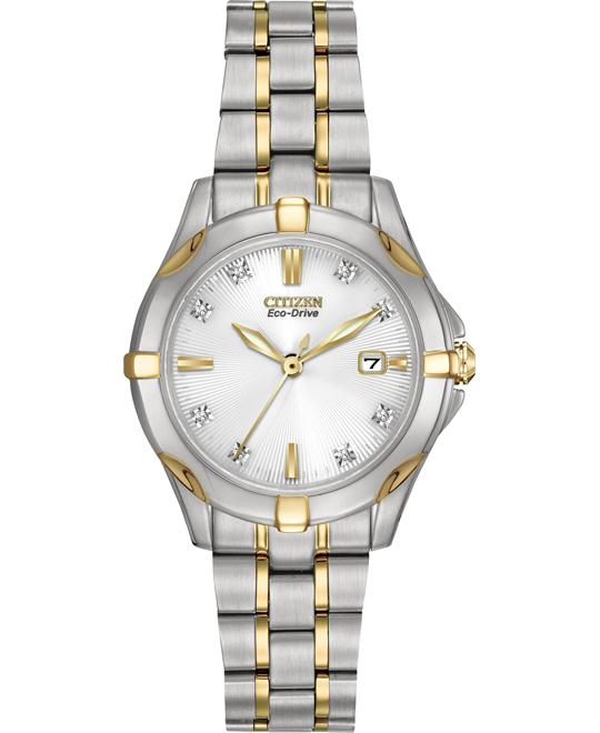 Citizen Women's Two-Tone Watch with Diamonds, 29.5mm