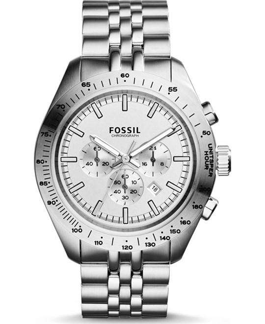 Fossil Mens Edition Sport Chronograph Silve Watch 45mm